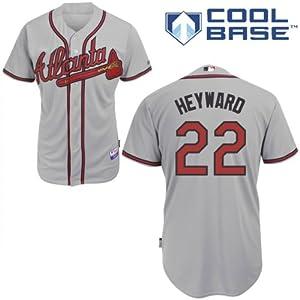 Jason Heyward Atlanta Braves Road Authentic Cool Base Jersey w  Hank Aaron 715th HR... by Majestic
