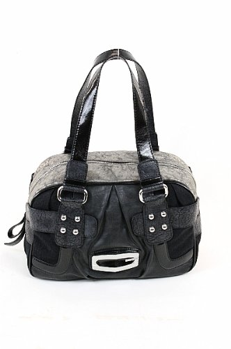 Guess Kym Box Bag Ladies Handbag Black Signature Jacquard Purse