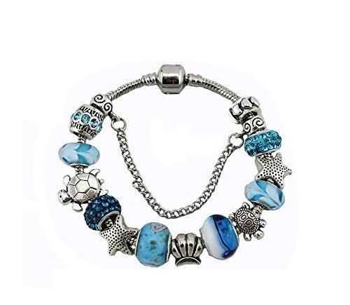 charmes-cinturino-gioielli-tema-oceano-placato-argento-vintage-soggetto-conchiglia-a-stella-a-forma-