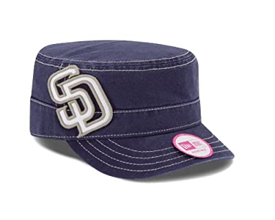 MLB San Diego Padres Women's Chic Cadet Military Cap (One Size Fits All)