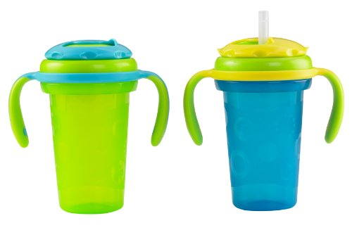 Fisher-Price Stack 'N Store Sippy Cup Straw Top, Blue, 2-Count front-91162