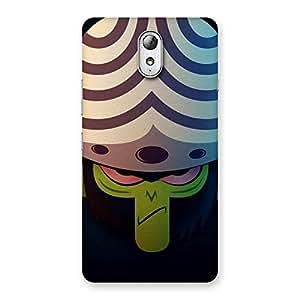 Ajay Enterprises Green Black Moj Back Case Cover for Lenovo Vibe P1M