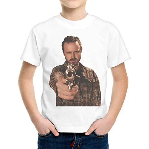T-Shirt Bambino Ragazzo Jesse Pinkman Pistola Breaking Bad Serie Tv -