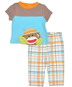 "Sock Monkey ""Exploration"" 2-Piece Outfit"