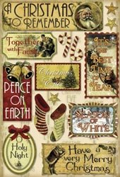 Karen Foster Vintage Christmas Cardstock Stickers 5.5″X9-Holy Night; 6 Items/Order