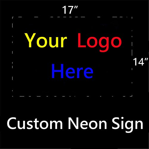 Personalized Custom Design Beer Neon Sign 17w x 14h, Handmade Glass Tube Neon Light Sign for Home Bar Pub Game Room and Recreation Decor Gifts (Neon Signs Custom compare prices)