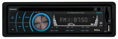 Boss Audio Bv6652 In-Dash Single-Din Detachable Dvd/Cd/Usb/Sd/Mp4/Mp3 Player Receiver With Remote
