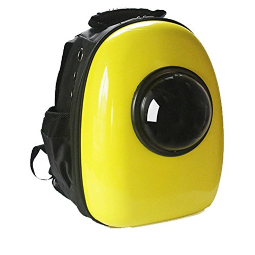 Pet Travel Portable Bag Carrier for Cat and Small Dog Home& Outdoor Waterproof Premium Handbag Backpack(Yellow)