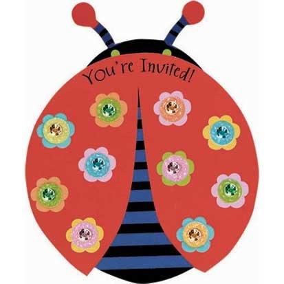 Ladybug Invitations 8ct