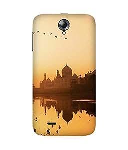 Upside Down Taj Mahal Back Cover Case for Lenovo A850