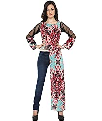 Bedazzle One Side Long Women's Printed Top