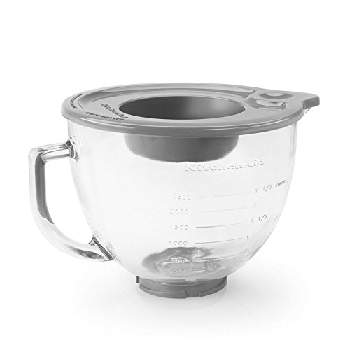 KitchenAid K5GB 5-Qt. Tilt-Head Glass Bowl with Measurement Markings & Lid (Kitchenaid Beaters For 5 Qt Stand compare prices)