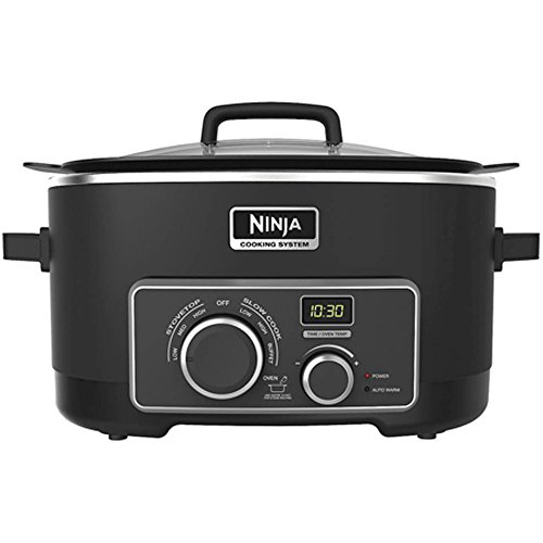 NEW Ninja MC700 3-in-1 Triple Fusion Heat Technology Non-Stick Cooking System (3 In 1 Ninja Cooking System compare prices)