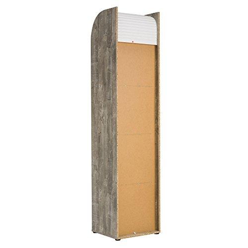 Büroschrank Rolladenschrank mit 5 Fächern H190 x B45 x T40 Grau ...
