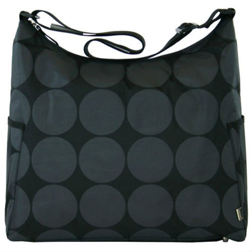 Oioi - Hobo Grey Dot with Lime Lining - Baby Changing Bag