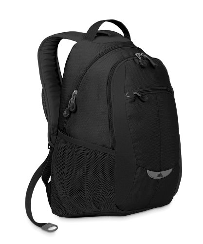 High Sierra Curve Backpack (18.5 X 12.5 X 8.5-Inch, Black) front-1054472