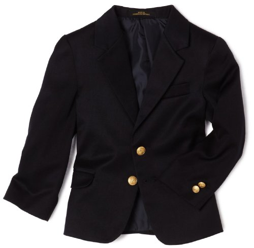 Izod Boys 2-7 Brass Button Blazer,Navy,6