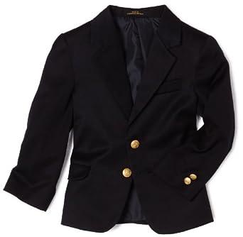 Izod Little Boys' Brass Button Blazer,Navy,5