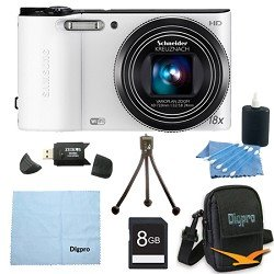 Samsung 8 GB Bundle WB150F 14 MP 18X Wi-Fi Digital Camera - White