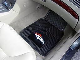 Exclusive By FANMATS NFL - Denver Broncos Heavy Duty 2-Piece Vinyl Car Mats