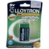 Lloytron 9 V 250 mAh NIMH AccuUltra Battery