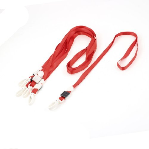 water-wood-6-pcs-office-school-polyester-neck-lanyard-id-card-holder-red-w-lobster-clip