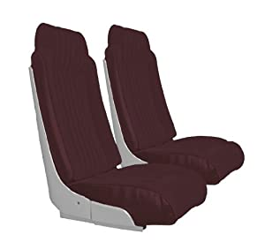 Acme U2009S-4545 Maroon Vinyl Front Bucket and Rear Bench Seat Upholstery