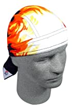 ZANheadgear Flydanna 100 Percentage Cotton Airbrushed Flames Road Hog Bandanna