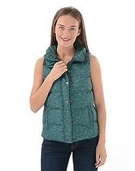 US Polo Women's Cotton Jacket (UWJK0112_Trekking Green_S)