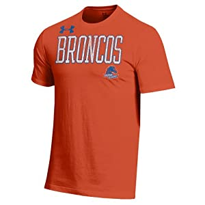 NCAA Boise State Broncos Men's Under Armour Short Sleeve Charged Cotton Performance Tee, Small, Orange