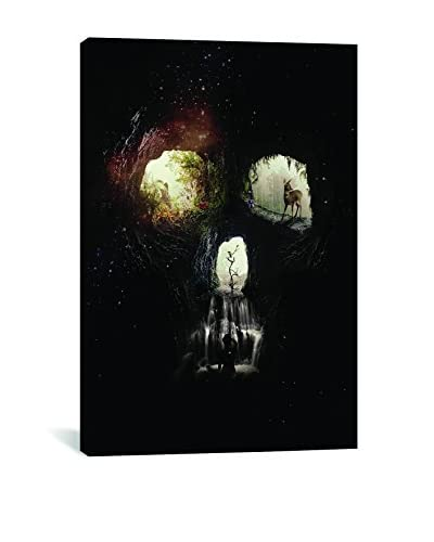 Cave Skull Gallery-Wrapped Canvas Print