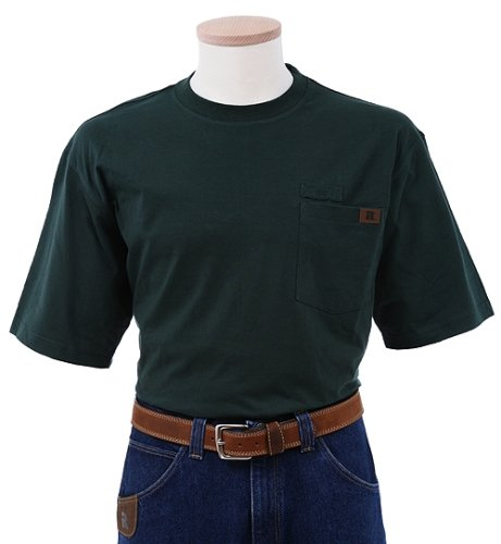 RIGGS WORKWEAR by Wrangler Men's Pocket T-Shirt, Forest Green, Large