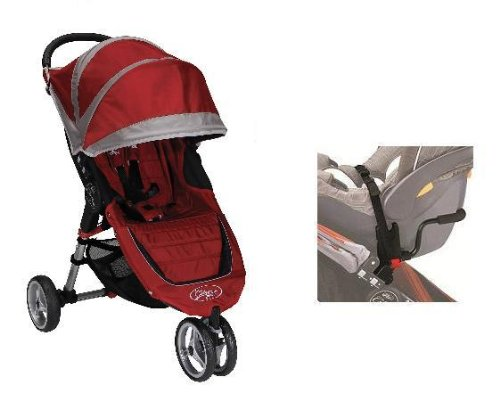 Baby Jogger 2012 City Mini Stroller in Crimson with Car Seat Adapter