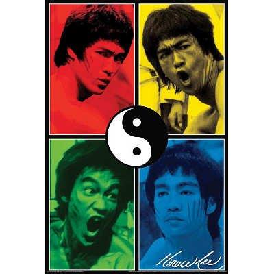 Pop Art Yin Yang Poster