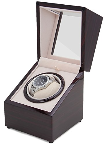 [New Version] CHIYODA Wood Handmade Inserted Holder Automatic Single Watch Winder-8 Speed Modes - 41TDV1qar3L - [New Version] CHIYODA Wood Handmade Inserted Holder Automatic Single Watch Winder-8 Speed Modes