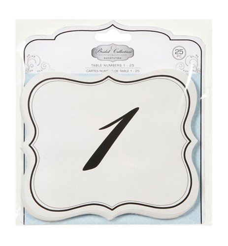 41TDZWoEdqL Numbers 1 25 Table Cards Wedding Reception David Tutera Scroll Edge Double Side