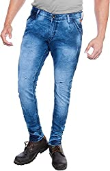 E Fashion Up Men's Skinny Fit Denim Jeans J8_Sky Blue_28