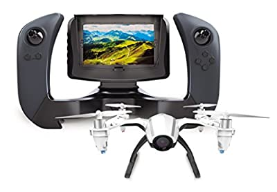 "UDI U28-1 FPV Quadcopter Drone with HD Camera and 4"" 5.8ghz LCD Display Screen - BONUS Battery Doubles Flight Time by UDIRC"