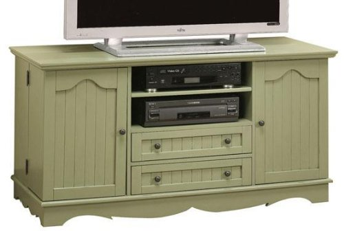 Cheap French Country Wide screen Tv Stand With Media Storage Doors (B001XZU8GC)