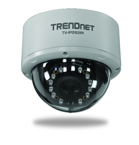 Trendnet Megapixel Poe Dome Network Surveillance Camera With Night Vision, Tv-Ip262Pi (Black)