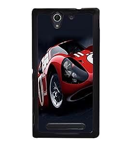 printtech Car Superfast Back Case Cover for Sony Xperia C4 Dual E5333 E5343 E5363::Sony Xperia C4 E5303 E5306 E5353