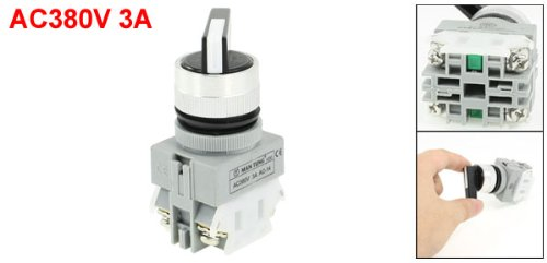 AC 380V 3A 1NO 1NC DPST Rotary Selector Self-resetting Knob Switch
