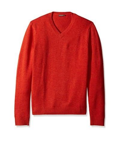 J. McLaughlin Men's Solid Milton High V-Neck Sweater