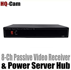 HQ-Cam 8 Channel Security CCTV Passive Video Receiver & Power Server HUB Balun