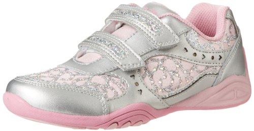 Stride Rite Sunny Running Shoe (Toddler/Little Kid),Silver/Light Pink,10.5 M Us Little Kid