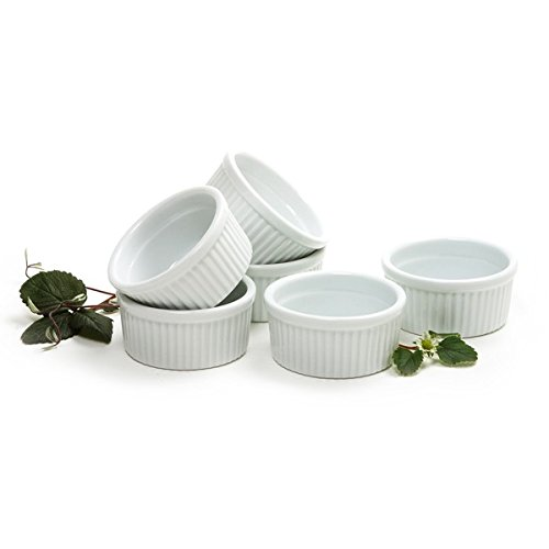 Norpro 4oz/120ml Porcelain Ramekins, Set of 6 (Oven Safe Small Bowls compare prices)