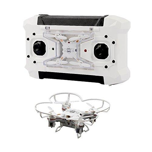 TEC.BEAN Super Mini Pocket RC Drone con flip 3D, la modalità senza testa, un tasto di ritorno del rtf 4CH 6 Axis Gyro Quadcopter (bianco)