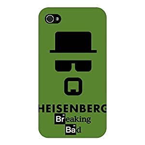 Jugaaduu Breaking Bad Heisenberg Back Cover Case For Apple iPhone 4