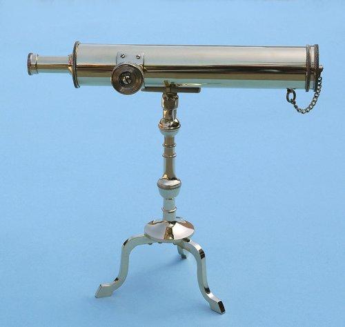 10-Inch Polished Brass Victorian Desk Telescope