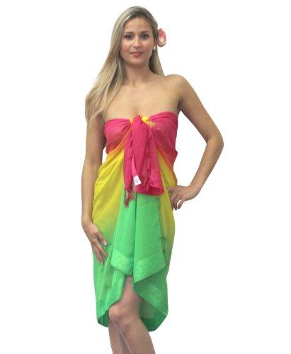 La Leela Gradient Color Swim Wrap Sarong